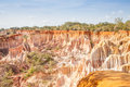 Marafa canyon kenya wonderful orange colors at sunset in also said the hell s kitchen malindi region Stock Photo