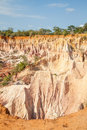 Marafa canyon kenya wonderful orange colors at sunset in also said the hell s kitchen malindi region Stock Images