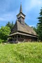 Maramures landmark wooden church traditional wood from romania romanian traditional architectural style life in the countryside Stock Image