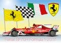 MARANELLO, MODENA, ITALY, YEAR 2017 - Ferrari Formula 1 SF70H, World Formula One World Championship 2017 Royalty Free Stock Photo