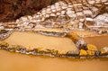 The Maras Salt Mines (Salinas De Maras), Peru Royalty Free Stock Photo