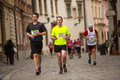 Marathon annuel d international de cracovie Photos libres de droits