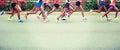 Marathon athletes running Royalty Free Stock Photo