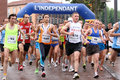 Marathon of Perpignan Stock Photography