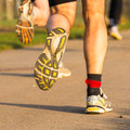 Marathon runner Stock Photography