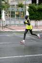 Marathon Runner Chemchir Michael of Kenya Stock Images