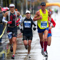 Marathon runner competes Stock Photography