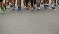 Marathon runner legs Royalty Free Stock Photo