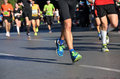 Marathon running race people feet on road sport fitness and healthy lifestyle concept Stock Photography