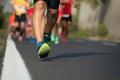 Marathon running race Royalty Free Stock Photo