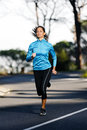 Marathon training runner Royalty Free Stock Images