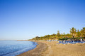 Marbella Beach on Costa del Sol in Spain Stock Photography
