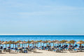 Marbella a gorgeous seaside panorama on the beach in Stock Photo