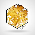 Marble abstract geometry symbol hexagon Royalty Free Stock Photo