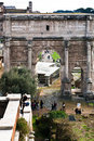Marble arch of septimius severus on capitoline hill rome italy december in rome italy december triumphal dedicated in ad Stock Photography