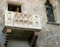Marble balcony of Juliet's House in Verona Royalty Free Stock Photo
