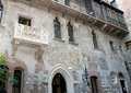 Marble balcony of juliet s house in verona italy Royalty Free Stock Photography