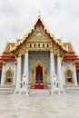 Marble buddhism temple made from marple in bangkok thailand Stock Images