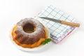 Marble bundt cake Royalty Free Stock Photo