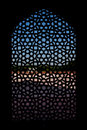 Marble carved screen window at Humayun's Tomb Stock Image