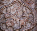 Marble carvings on the Baptistery, Parma, Italy Royalty Free Stock Photo