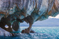 Marble caves, Patagonia chilena Royalty Free Stock Photo