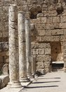 Marble columns in perge antalya turkey Stock Photos