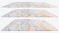 Marble floor texture isolated on white background for design.
