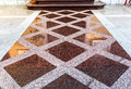 Marble or granite floor slabs for outside pavement flooring. Royalty Free Stock Photo