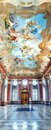 Marble Hall of the monastery in Melk Stock Image