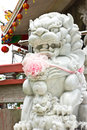 Marble lion statue Royalty Free Stock Image