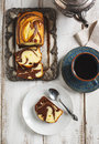 Marble loaf cake Royalty Free Stock Photo