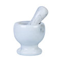 Marble mortar and pestle. Royalty Free Stock Photo