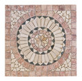 Marble mosaic with medallion shape Royalty Free Stock Photo