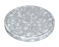 Marble plate for meat and vegetable on white background Stock Photos