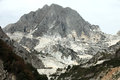 The Marble Quarries - Apuan Alps , Carrara, Royalty Free Stock Images