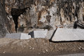 Marble quarry in carrara italy Stock Photos