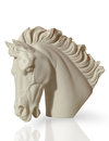 Marble sculpture horse s head floor clipping path Royalty Free Stock Images