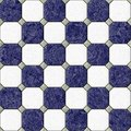 Marble square floor tiles with gray rhombs seamless pattern texture background - navy blue and white color Royalty Free Stock Photo