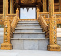 Marble Staircase with Elegant Handrails Royalty Free Stock Photo