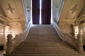 Marble stairs elegant inside palace Royalty Free Stock Photo