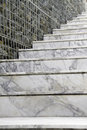 Marble stairs in modern house Stock Image
