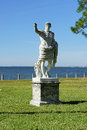 A Marble statue close to beach Royalty Free Stock Photo