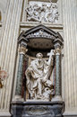 A marble statue disciple of Jesus the Apostle of St. Philippus in Basilica di San Giovanni in Laterano in Rome, capital of Italy Royalty Free Stock Photo