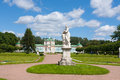 Marble statue and palace summer day kuskovo park moscow russia Royalty Free Stock Photos