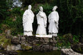 Marble statue of three Chinese ancient poetry Stock Image