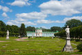 Marble statues palace and park summer day at kuskovo moscow Royalty Free Stock Image