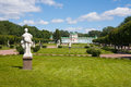 Marble statues in the park and palace at kuskovo moscow russia Stock Image