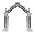 Marble stone baroque entrance gate frame vector illustration Royalty Free Stock Image