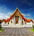Marble Temple in Bangkok Royalty Free Stock Photo